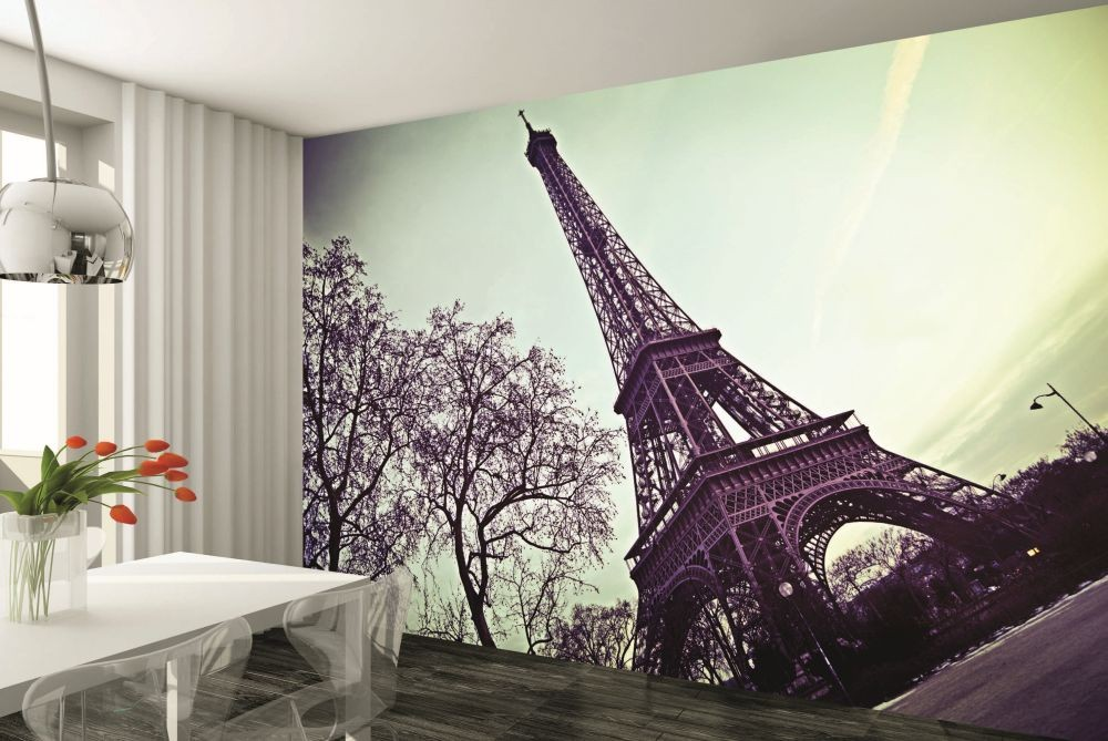paris eiffel tower wall mural buy at europosters. Black Bedroom Furniture Sets. Home Design Ideas