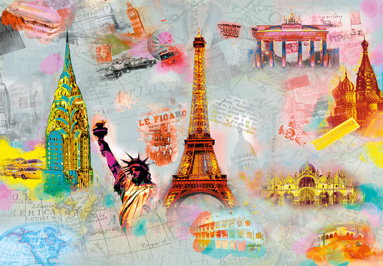 Wall Paper Mural Around The World Wall Mural Buy At Europosters