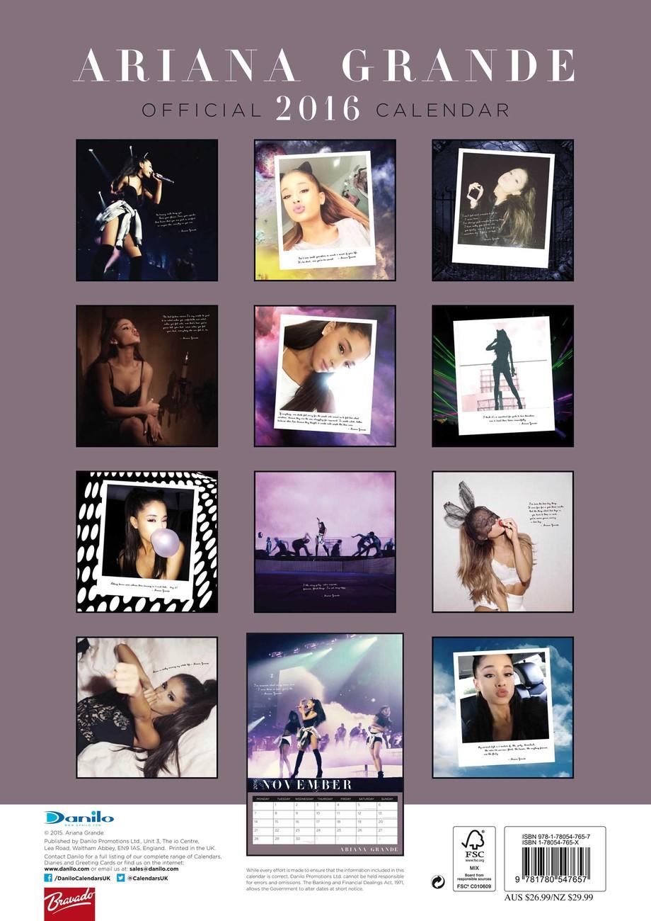 Ariana Grande - Calendars 2016 on EuroPosters