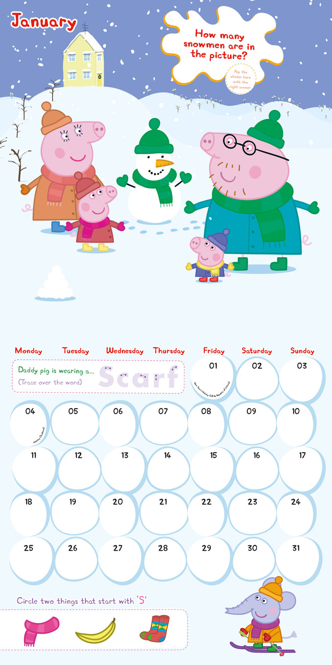 Magnets For Cars >> Peppa Pig - Calendars 2016 on EuroPosters