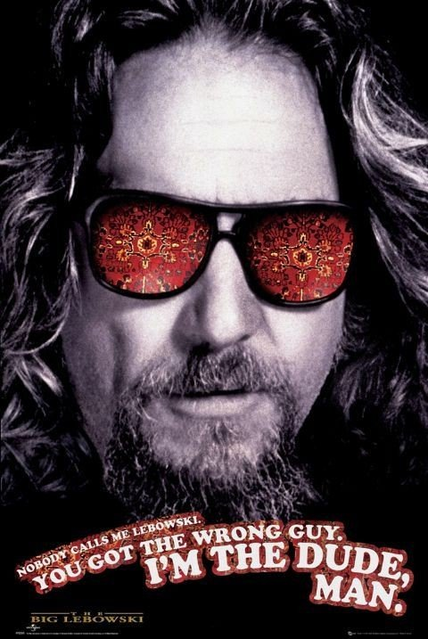 the big lebowski the dude poster affiche acheter le sur. Black Bedroom Furniture Sets. Home Design Ideas