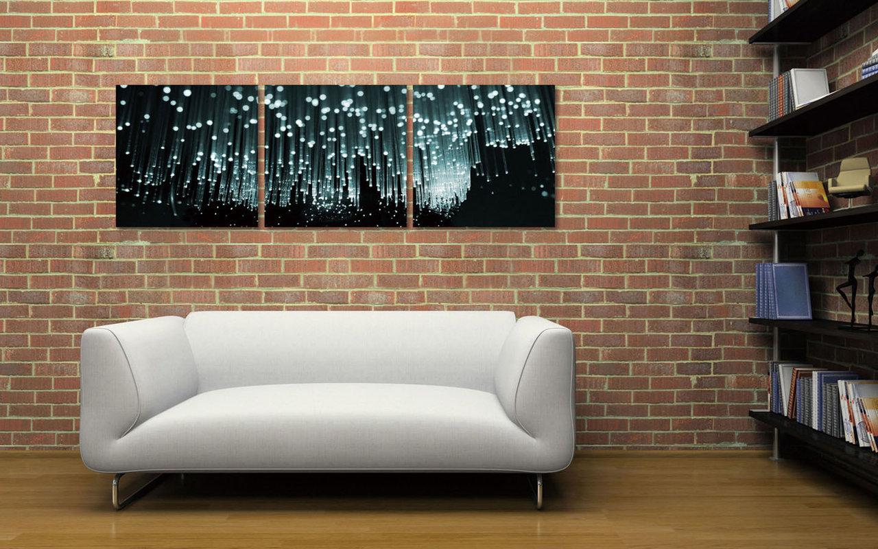 Modern Design - White Rain Obraz