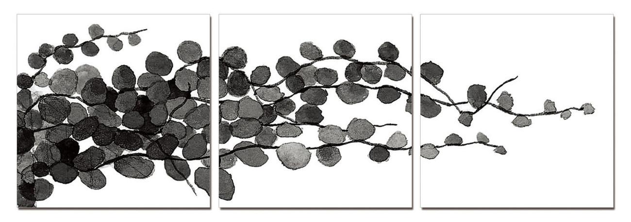 Modern Design - Young Branches (B&W) Obraz