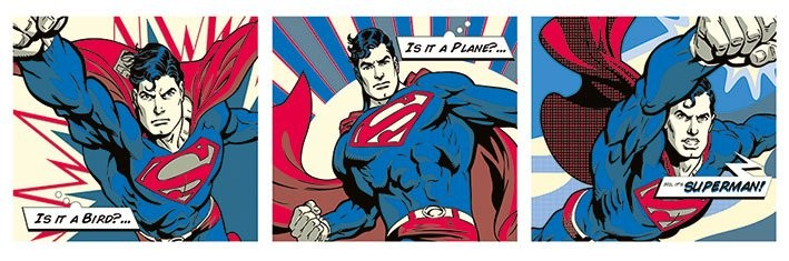 Plakat Superman - Pop Art Triptych