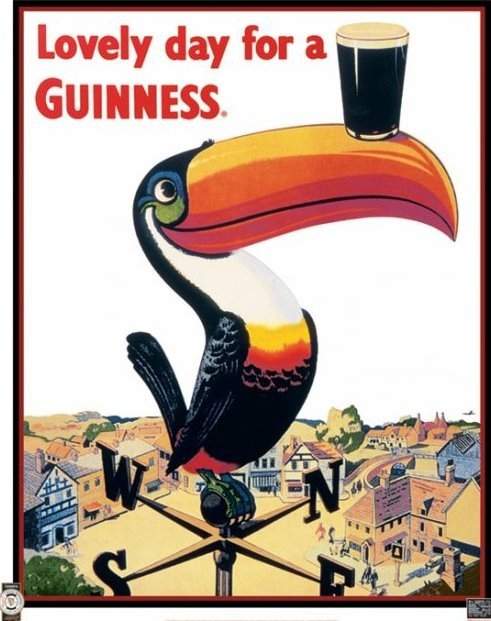 Vintage Key Clip Art Guinness - toucan Post...