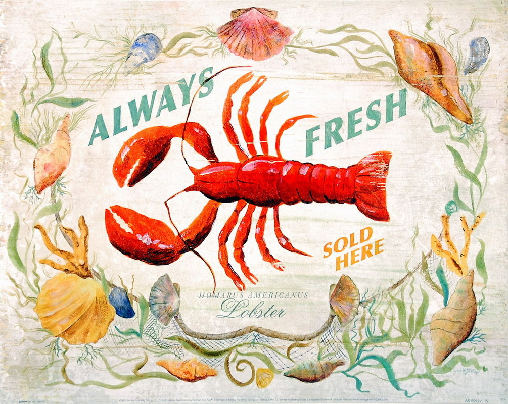 Lobster Art Print | Sale at EuroPosters