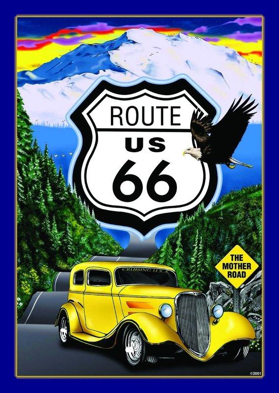 Route 66 panneau mural acheter le sur for Route 66 mural
