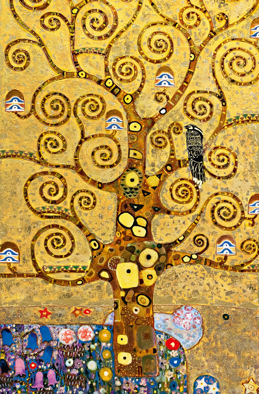 the tree of life wall mural buy at europosters. Black Bedroom Furniture Sets. Home Design Ideas