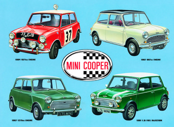 MINI COOPER COLLAGE metal sign