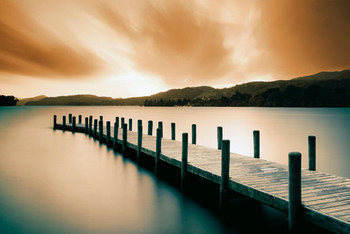 WOODEN LANDING JETTY - color posters | art prints