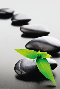 ZEN STONES - green posters | art prints