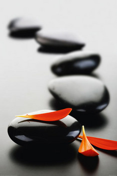 ZEN STONES - red posters | art prints