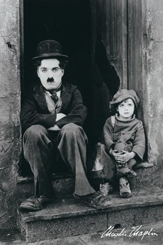 CHARLIE CHAPLIN - doorway Affiche, poster, photographie