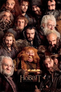 HOBBIT - dwarves Affiche, poster, photographie