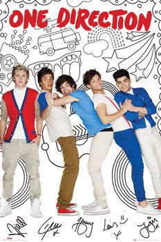 ONE DIRECTION - cartoon Affiche, poster, photographie