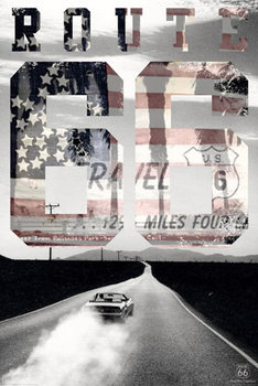 ROUTE 66 - usa Affiche, poster, photographie