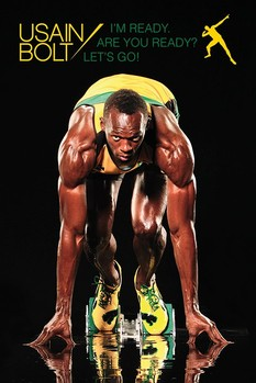 USAIN BOLT - Im ready Affiche, poster, photographie