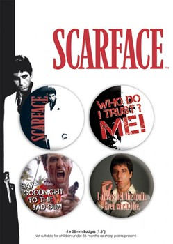 chapitas SCARFACE - pack 1