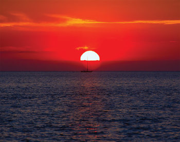 Zachód słońca Fototapeta