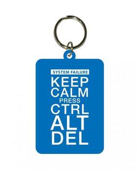 Keep Calm and Press Ctrl Alt Delete Keyring
