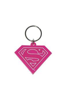 Superman - Supergirl Pink Keyring
