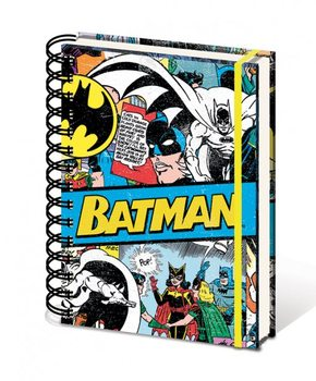 DC Comics A5 notebook - Batman Retro Materiały Biurowe