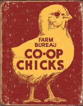 Metalowa tabliczka CO-OP CHICKS