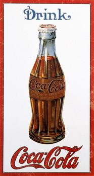 Metalowa tabliczka COKE BOTTLE