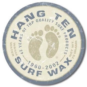 Metalowa tabliczka HANG TEN - surf wax