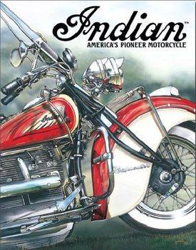 Metalowa tabliczka INDIAN - americas pioneer