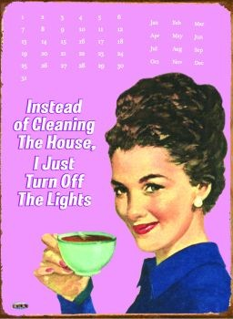 Metalowa tabliczka INSTEAD OF CLEANING