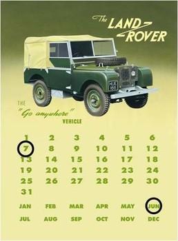 Metalowa tabliczka Land rover series 1 calendar