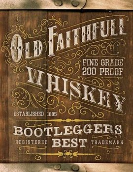 Metalowa tabliczka Old Faithful Whiskey