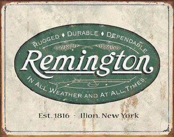 Metalowa tabliczka REM - weathered logo