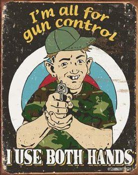 Metalowa tabliczka SCHONBERG - Gun Control