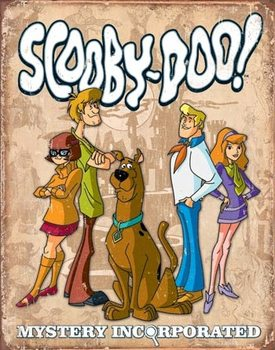 Metalowa tabliczka Scooby Doo - Gang Retro