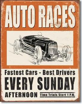 Metalowa tabliczka VINTAGE AUTO RACES