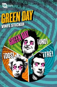 Naklejka GREEN DAY - trio