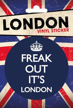 Naklejka LONDON - freak out