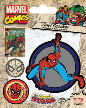Naklejka Marvel Comics - Spider-Man Retro