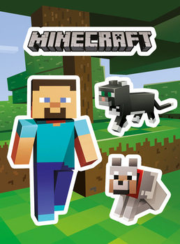 Naklejka Minecraft - Steve and Pets