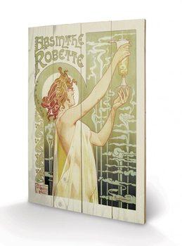 Obraz na drewnie Absinthe Robette