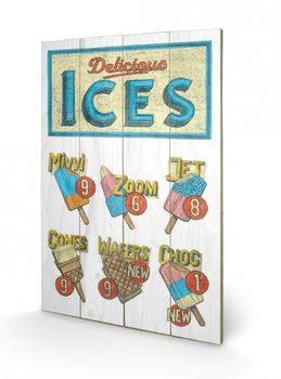 Obraz na drewnie BARRY GOODMAN - delicious ices