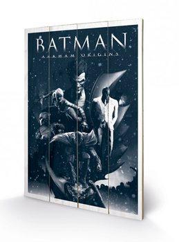 Obraz na drewnie Batman Arkham Origins - Montage