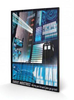 Obraz na drewnie Doctor Who - Tardis Industries