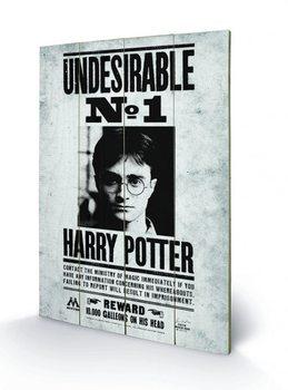 Obraz na drewnie Harry Potter - Undesirable No1