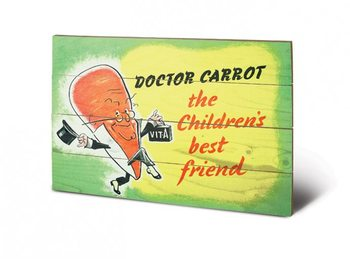 Obraz na drewnie IWM - doctor carrot