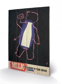 Obraz na drewnie IWM - milk