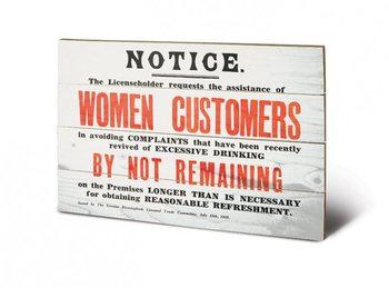 Obraz na drewnie IWM - women customers