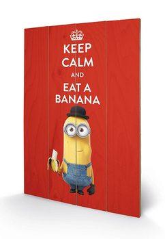 Obraz na drewnie Minionki (Despicable Me) - Keep Calm